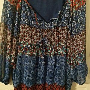 Elementz woman 3x bohemian blouse